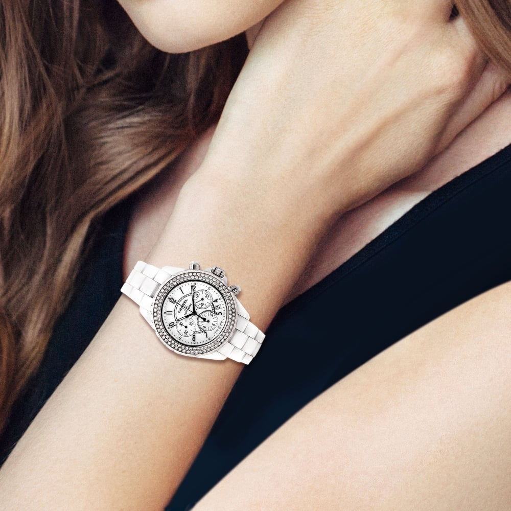 pottery photo ref a winding watch ceramics woman grey wrist watches automatic chanel