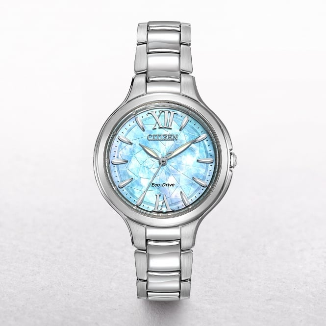 Ladies Citizen Eco-Drive Sihouette Blue Crystal Dial