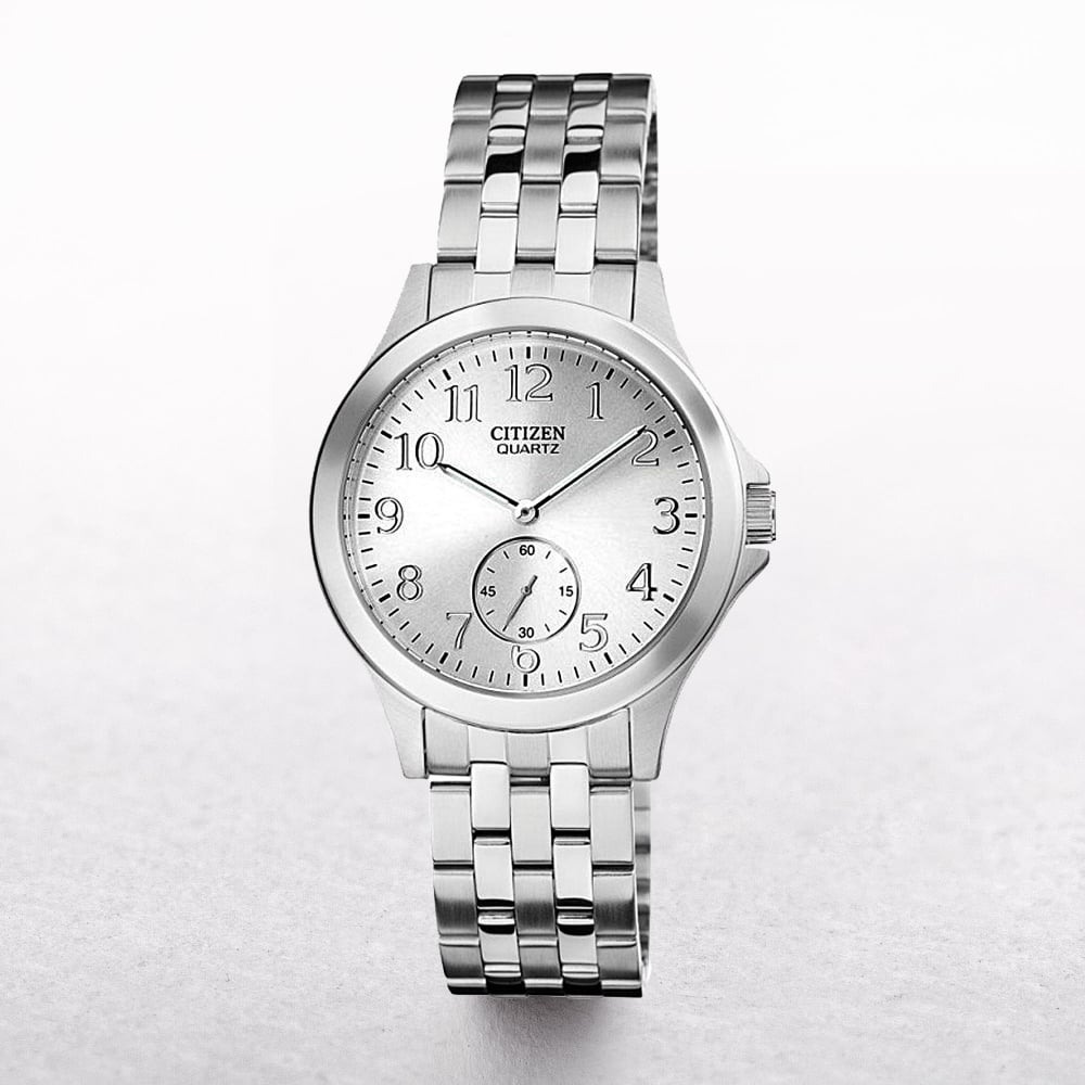 info for 6af06 425c0 Ladies Citizen Eco-Drive Stainless Steel White Date & Seconds Dial