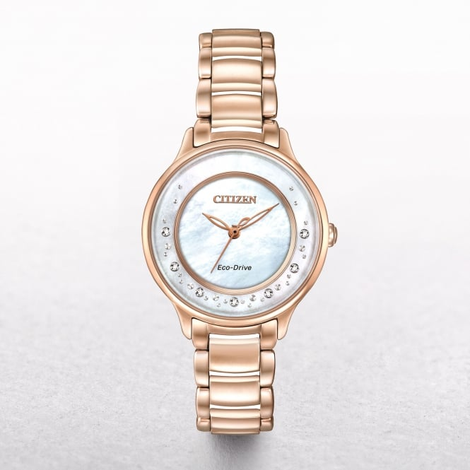 Ladies Citizen Eco-Drive 'The Circle of Time' Mother Of Pearl Dial