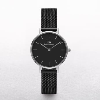 Ladies Daniel Wellington Petite Ashfield Black Dial Watch