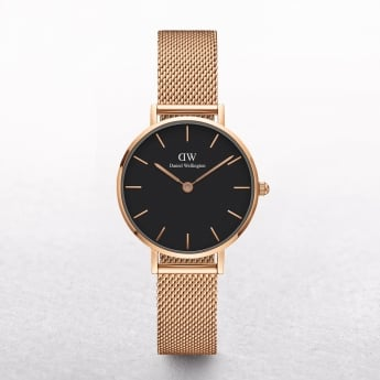 Ladies Daniel Wellington Petite Melrose Black Dial Watch
