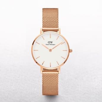 Ladies Daniel Wellington Petite Melrose White Dial Watch