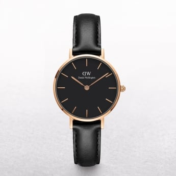Ladies Daniel Wellington Petite Sheffield Black Dial Watch