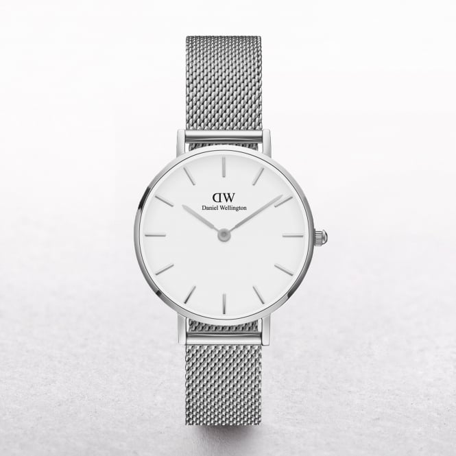 Ladies Daniel Wellington Petite Sterling White Dial Watch