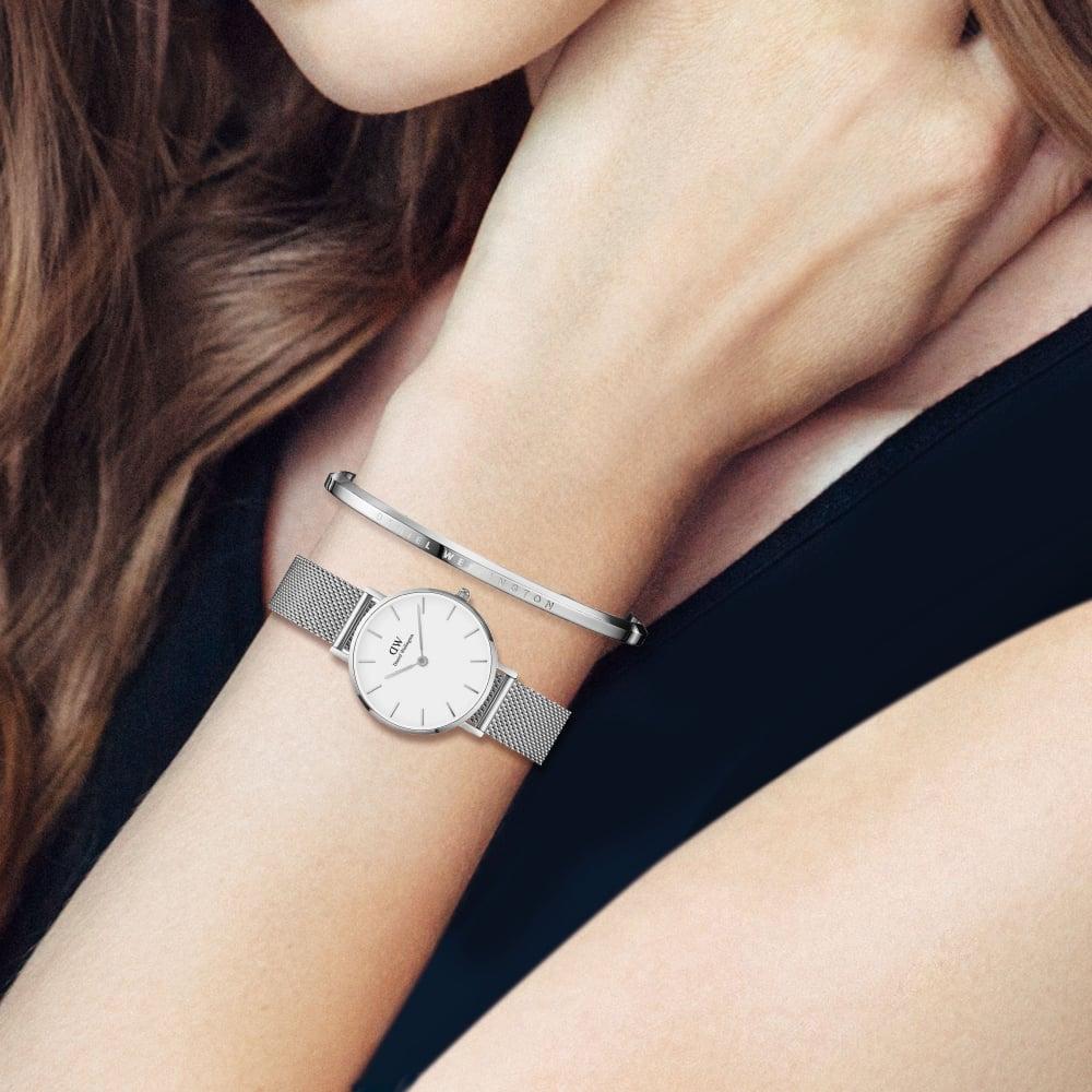 fb8166f7a00 Ladies Daniel Wellington Petite Sterling White Dial Watch