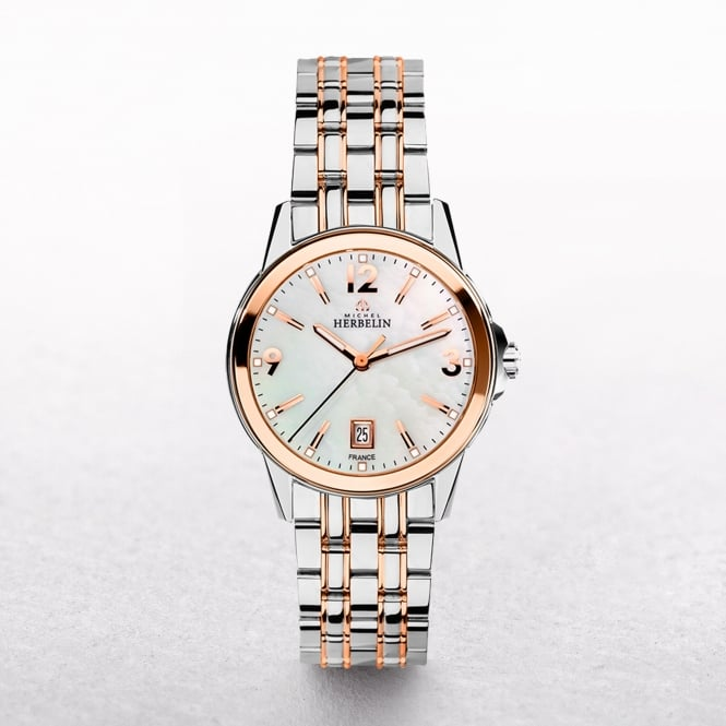 Ladies Michel Herbelin Ambassador Rose Gold Plated & Stainless Steel