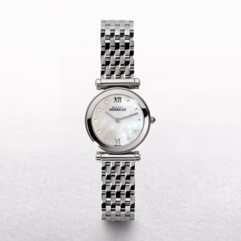 Ladies Michel Herbelin Antares Stainless Steel Mother of Pearl Dial