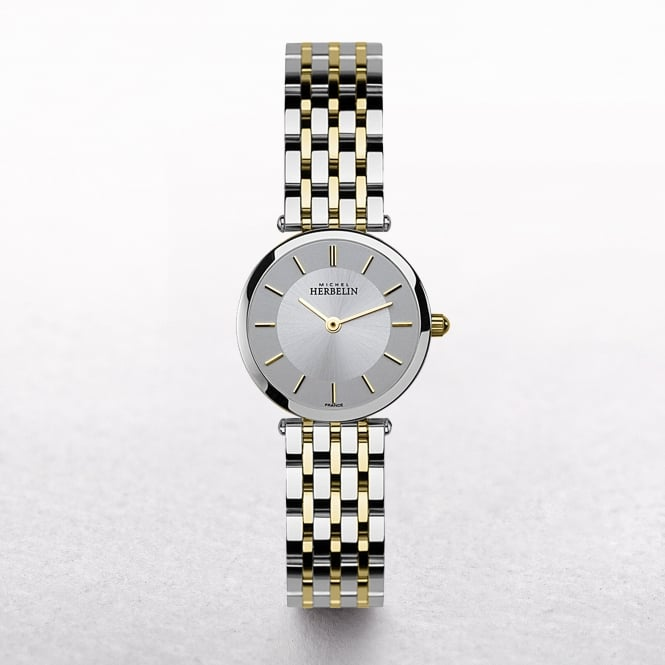 Ladies Michel Herbelin Epsilon Two Tone Silver Dial