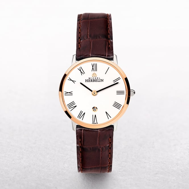 Ladies Michel Herbelin Ikone Rose Gold Plated & Stainless Steel