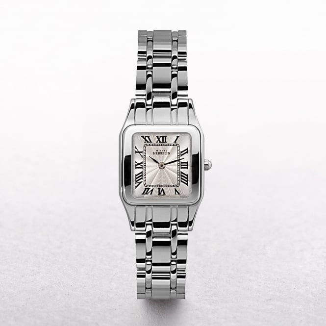 Ladies Michel Herbelin Luna Stainless Steel Roman Numeral Square Dial