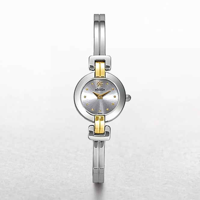Ladies Michel Herbelin Newport Royale 18ct Two Tone Bangle Watch