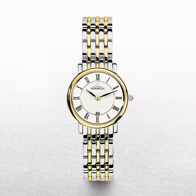 Ladies Michel Herbelin Parisian Two Tone Roman Numeral Dial