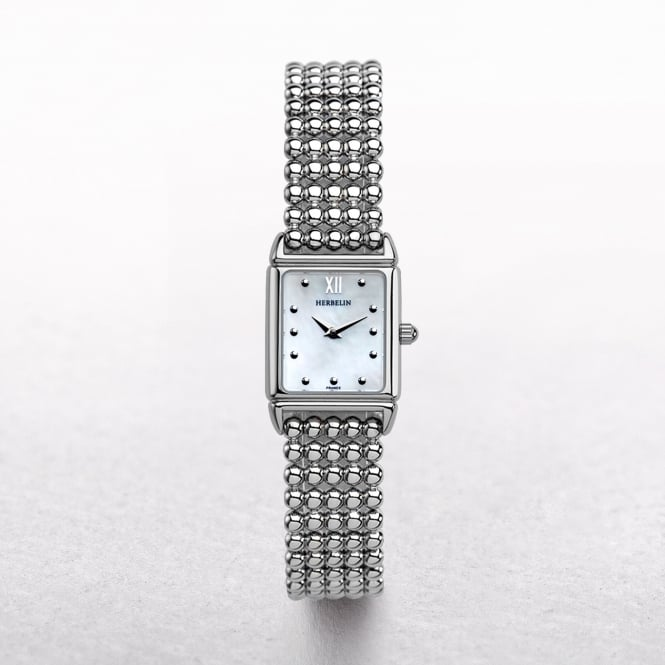 Ladies Michel Herbelin Perle Stainless Steel Beaded Links