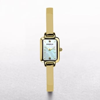 Ladies Michel Herbelin Salambo Gold Plated Rectangular Dial
