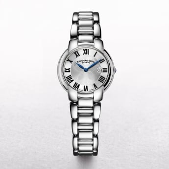 Ladies Raymond Weil Jamine Stainless Steel Round Silver Roman Dial on a Bracelet