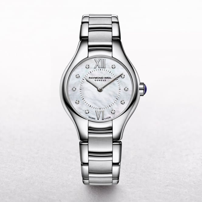 Ladies Raymond Weil Noemia Stainless Steel Bracelet Mother of Pearl Diamond Set Dial