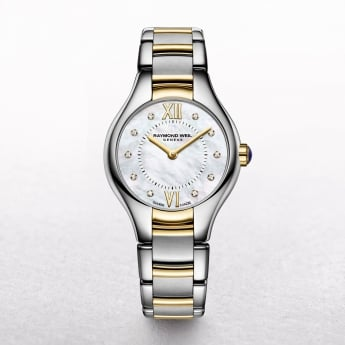 Ladies Raymond Weil Noemia Two Tone Bracelet with Diamond Set Dial