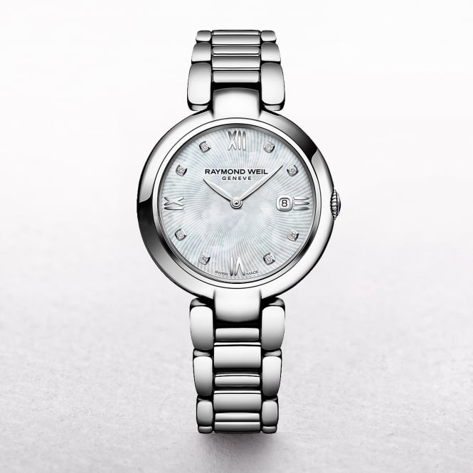Ladies Raymond Weil Shine Quartz Stainless Steel Mother of Pearl Dial