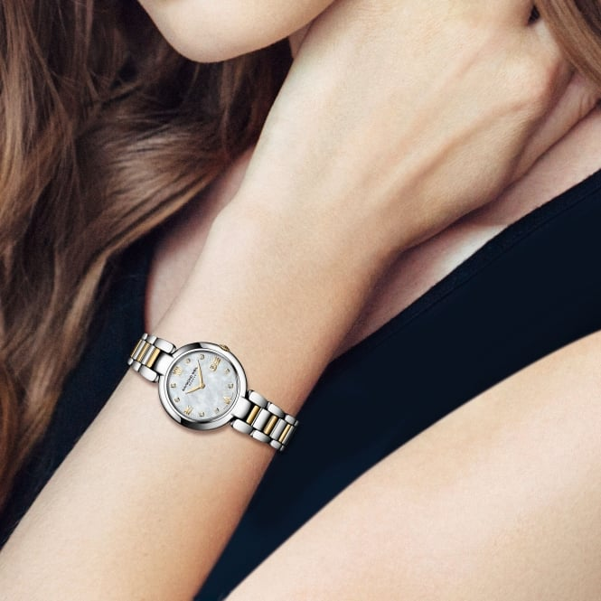 Ladies Raymond Weil ShineTwo Toned Bracelet with Round Diamond Dial