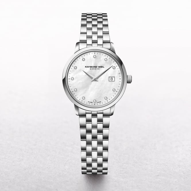 Ladies Raymond Weil Stainless Steel Toccata Mother of Pearl Dial with Diamonds