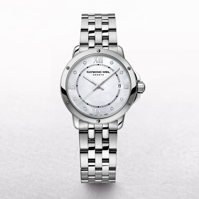 Ladies Raymond Weil Tango Mother of Pearl Diamond Set Dial Stainless Steel Bracelet