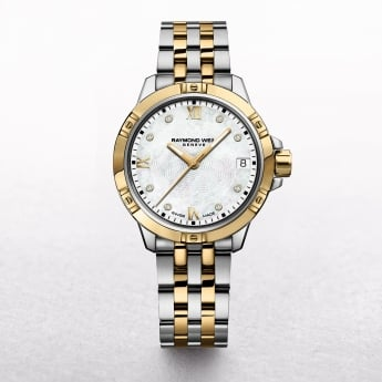 Ladies Raymond Weil Tango Two Tone Diamond Hour Markers