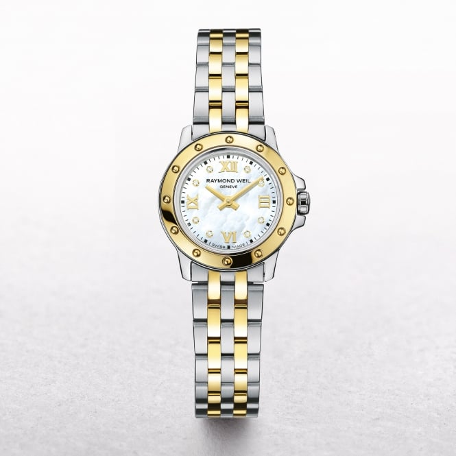 Ladies Raymond Weil Tango Two Tone Mother of Pearl Dial with 0.03 ct