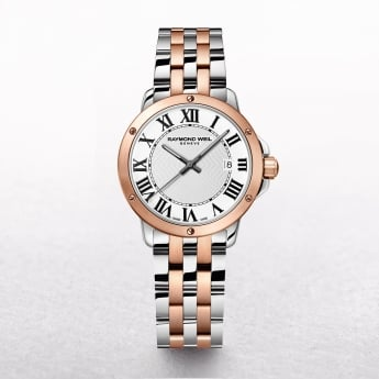 Ladies Raymond Weil Tango Two Toned Rose Gold & Stainless Steel with Roman Numerals