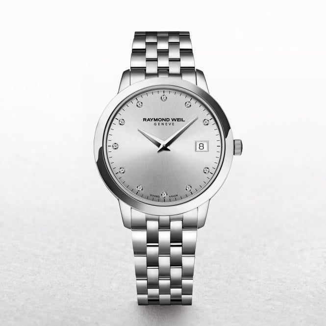 Ladies Raymond Weil Toccata Silver Dial with Diamonds