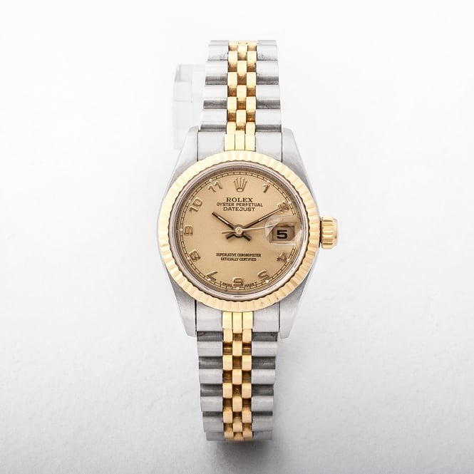 Ladies Rolex DateJust on Two Tone Jubilee Bracelet