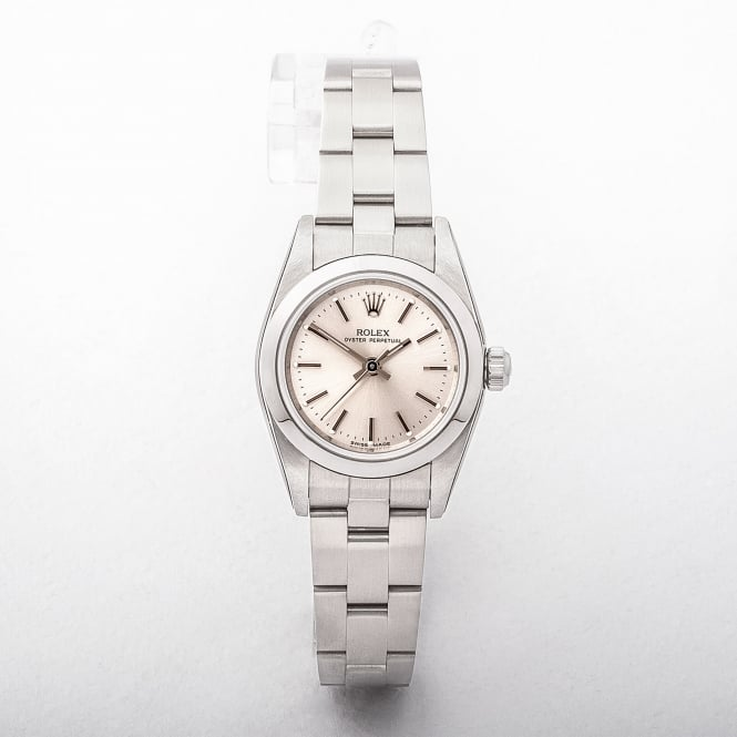Ladies Rolex Oyster Perpetual on Stainless Steel Oyster Bracelet