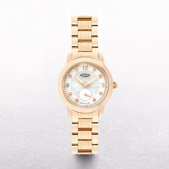 Ladies Rotary Cambridge Rose Gold Plated Mother of Pearl & Diamond Set Dial