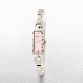 Ladies Rotary Rectangle Stainless Steel Dial with Diamonds