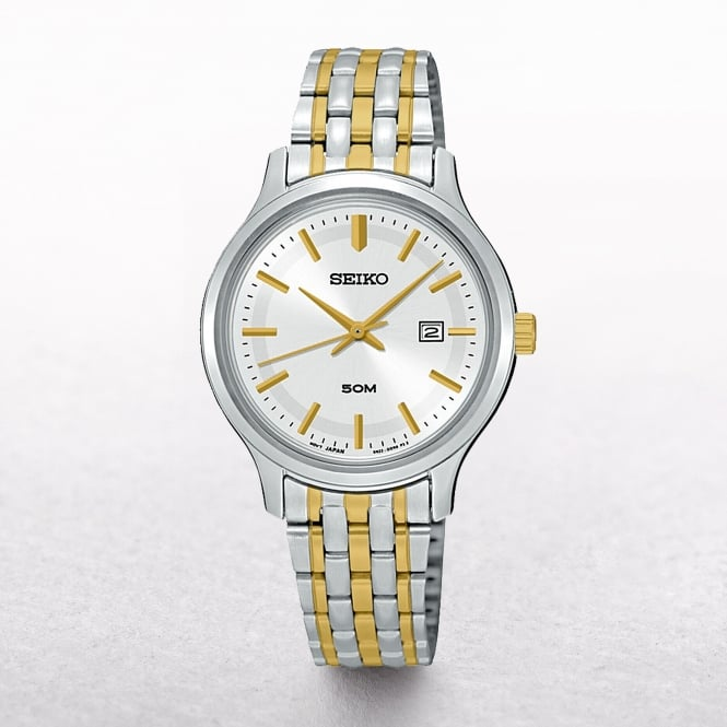 Ladies Seiko Neo Classic Gold Plated & Stainless Steel