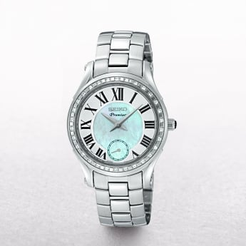 Ladies Seiko Premier Diamond Bezel With Mother of Pearl Dial