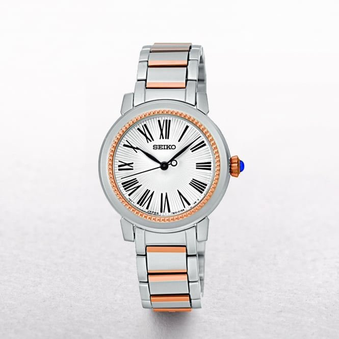 Ladies Seiko Two Tone Beaded Bezel
