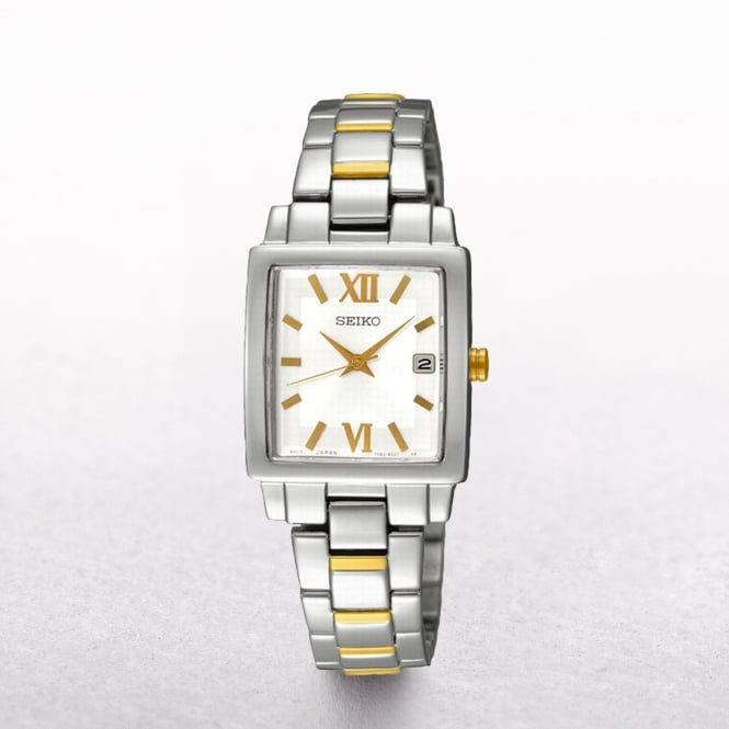 Ladies Seiko Two Tone Square Dial