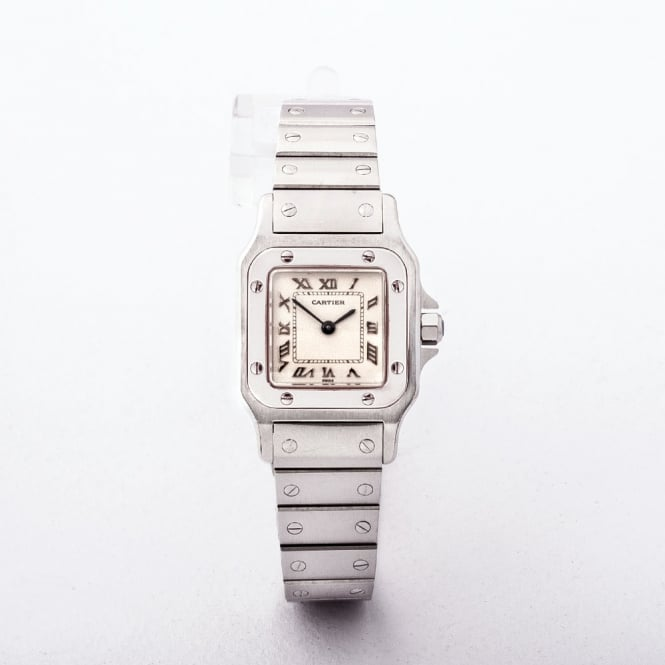 Ladies Stainless Steel Cartier Santos Mini on Bracelet with Quartz Movement