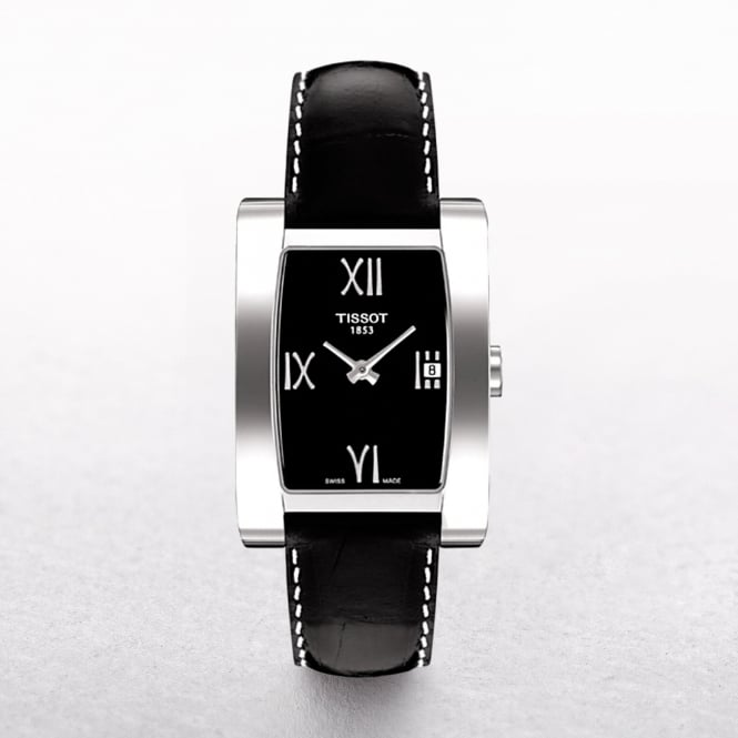 Ladies Tissot Generosi-T Leather Rectangular Wrist Watch