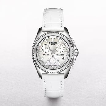 Ladies Tissot PRC 100 Chronograph Diamond Bezel Watch