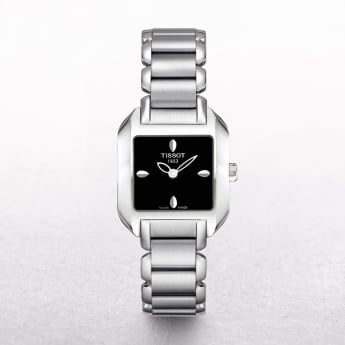 Ladies Tissot T-Wave Stainless Steel Square Dial Watch