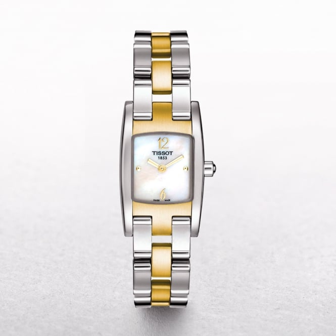 Ladies Tissot Trend T3 Two Tone Mother of Pearl Dial Watch