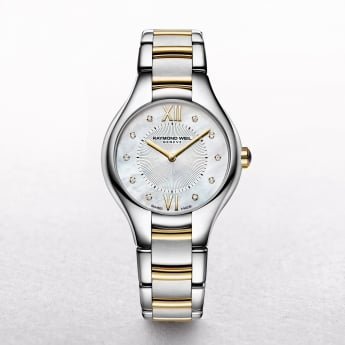 Ladies Two Toned Raymond Weil Noemia Mother of Pearl and Diamond Dial