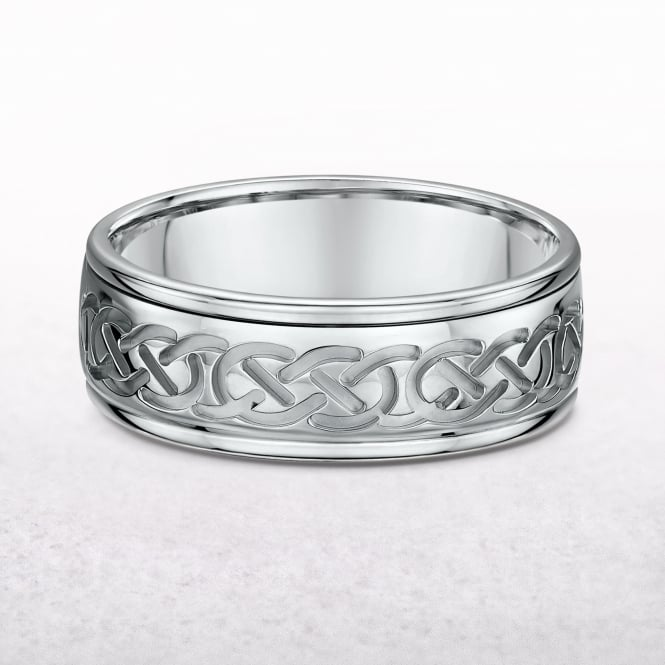 Ladies White Gold Celtic Knot Ring