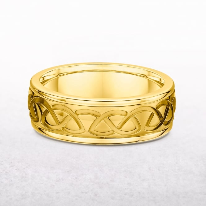 Ladies Yellow Gold Celtic Ring