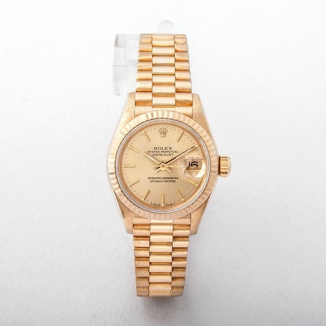 Laides Rolex 18ct Datejust on President Bracelet