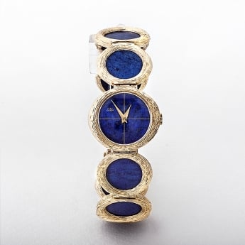 Lapis Lazuli Gold Watch by Lotos of Germany