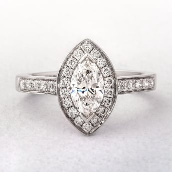 Marquise Cut Diamond Halo Style Ring