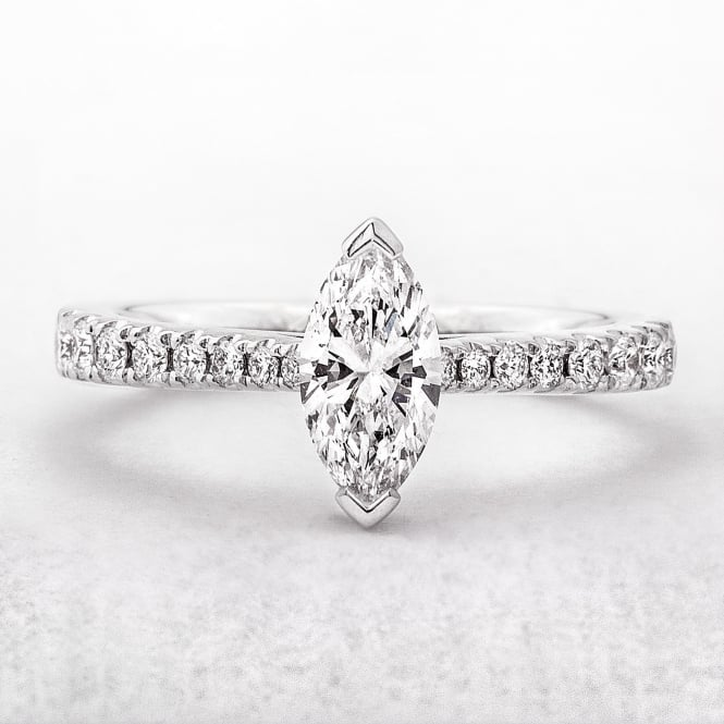 Marquise Diamond .64ct Engagement Ring with Castel Setting